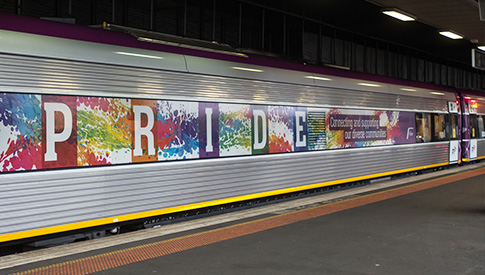 Pride Train - Connecting and supporting our regional communities